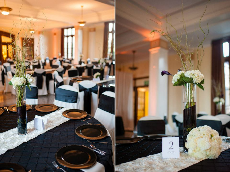Seattle Wedding Reception Set Up In Banquet Hall At Landmark On The