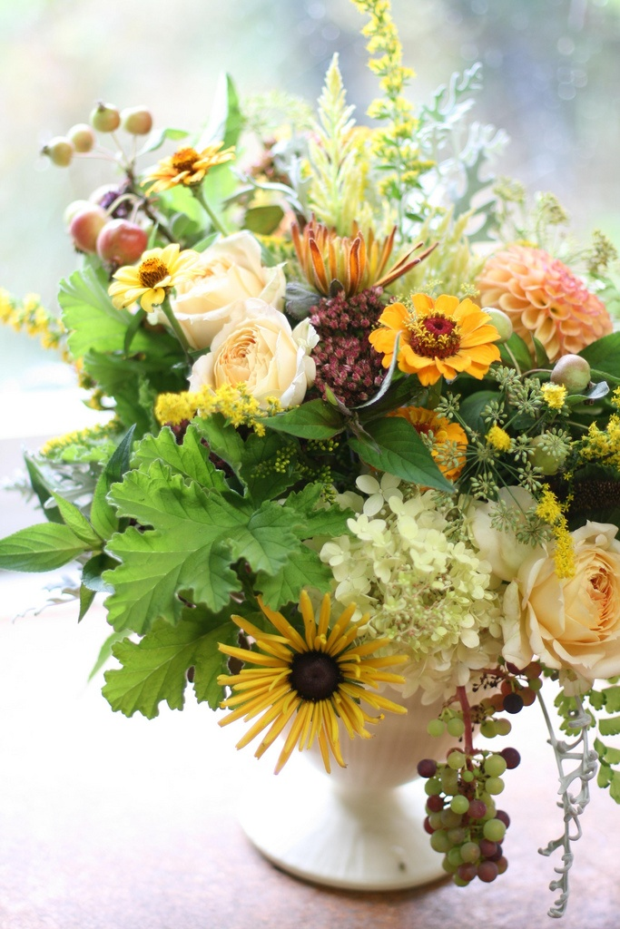 Beautiful fall bouquets centerpieces landmark on the